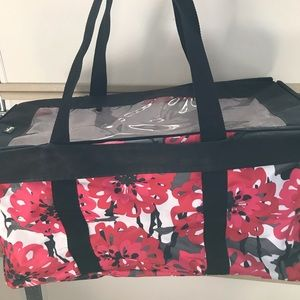 Thirty-One Large Floral Tote with Top Cover